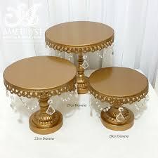 metal cake stand gold metal cake stands 27cm 20 23cm 18 20cm diameter