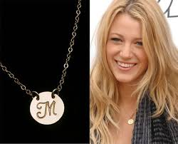 charm necklace letters images Initial pendant large disc necklace personalized jewelry jpg
