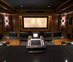 home theater decoration cool white grey wood glass modern design small ideas home theatre