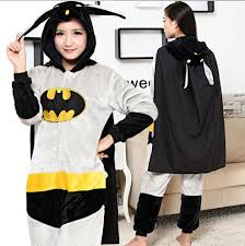 Kigurumi Halloween Costume Batman Mascots Jumpsuits Halloween Costume Costumes Men Women
