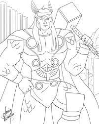 Thor Coloring Pictures Coloring Pages Thor Coloring Page