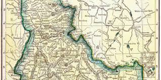 Idaho On Map 1910 Idaho Census Map U2013 Access Genealogy