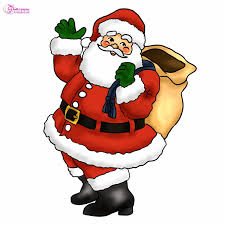 christmas clip art santa behind a christmas tree clip art clipartix