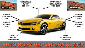 how much does it cost to fix a brake light collision repair costs 2017 archives impact auto body