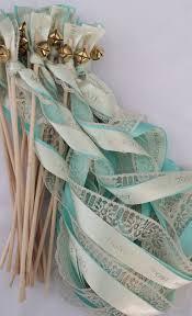 personalized wedding ribbon personalized wedding ribbon wands set of 100 lace wands