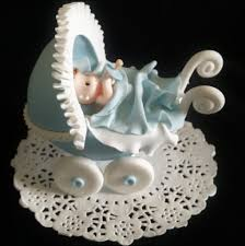 baby carriage cake topper baby shower cake decoration baby