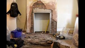 fireplace breakout and installation of morso 04 youtube