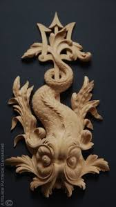 woodcarving a ornamental carving in rococo style ornamental