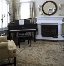 chic on a shoestring decorating grand piano living room within