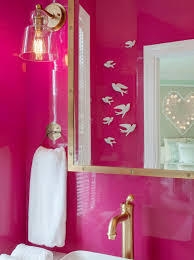 Black And Pink Bathroom Ideas Bathrooms Pink Pink Walls Pink Lacquer Walls Pink