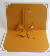 christmas candles 3d pop up greeting card home décor handmade