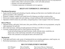 Resume Objective For Warehouse Worker 100 Mover Resume Sample Objective Resume Resume Templates 9