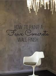 Best Paint For Concrete Walls In Basement by Diy Home Decor How To Paint A Faux Concrete Wall Finish Wall