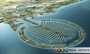 dubai palm tree island