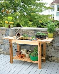 potting benches with storage outdoor potting benches storage