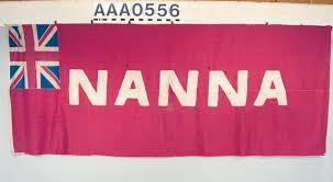 Maroon And White Flag Personal Flag Of Itsekiri Chief Nana Olomu National Maritime Museum