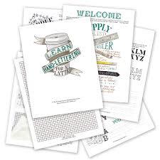 Learning How To Read Worksheets Premium Hand Lettering Worksheet Set The Postman U0027s Knock