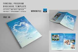 funeral booklet 8 page funeral booklet template v527 brochure templates