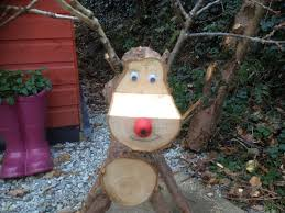 log reindeer a log reindeer for christmas save money by doing it yourself