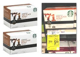 starbucks k cups only 4 16 at safeway the krazy coupon