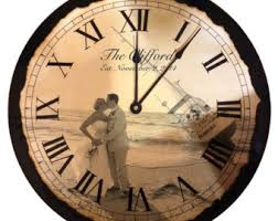 personalized clocks with pictures wedding clock etsy