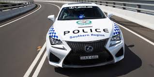 new lexus rcf rc f coupe joins new south wales police fleet