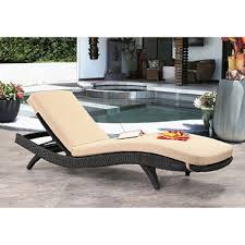 Cushions For Outdoor Chaise Lounges Atlantic Espresso Wicker Outdoor Chaise Lounge With Cushions