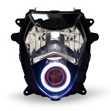 kt headlight for suzuki gsxr1000 gsx r1000 2003 2004 led angel eye