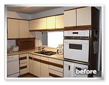 Updating Laminate Kitchen Cabinets Painting Formica Cabinets Before And After Roselawnlutheran