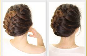 how to put bridal hairstyle 5 minute french braid updo easy summer hairstyles youtube