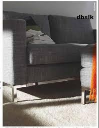 Ikea Karlstad Loveseat Cover Ikea Karlstad 2 Seat Sofa Slipcover Loveseat Cover Isunda Gray Grey