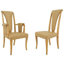 Mission Style Dining Chairs Set Of Eight English Art Deco Maple High Back Dining Chairs By S