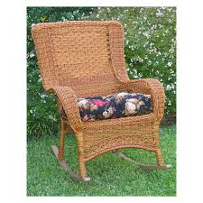 international caravan chelsea wicker resin patio rocking chair