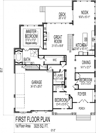 House Plans Single Level by Simple 3 Bedroom House Floor Plans Single Story Flat Plan On Half