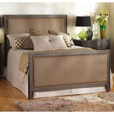 avery iron u0026 upholstered bed by wesley allen humble abode