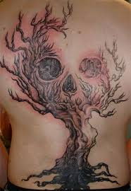skull and tree scary tattoomagz