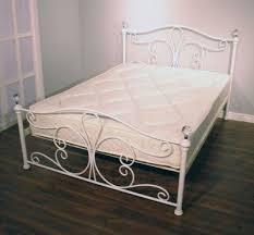 4ft bed jerome crystal double bed frame 4ft 6 matt white