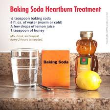 baking soda is a low cost antacid for treatment of heartburn and