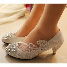 small heel wedding shoes i m in sparkly white lace flat wedge high low heel