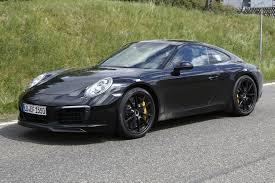 porsche 911 black 2016 porsche 911 spy pics wheels