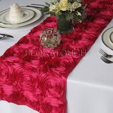 pink rosette table runner pink satin rosette table runner floratouch