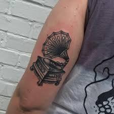 phonograph done by matt nemeth at lakeside tattoo in richmond va