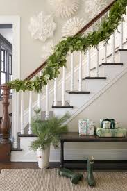 Banister Decorations 60 Best Christmas Garland Ideas Decorating With Holiday Garlands