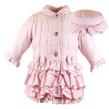 designer childrenswear louise pink frill coat baby from designer