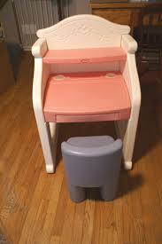 vintage little tikes pink victorian desk with blue chair rare