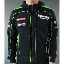 kawasaki riding jacket racing team motocard hooded sweat