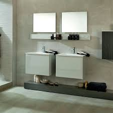 double washbasin cabinet wall hung wooden contemporary