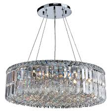 shade crystal chandelier chandeliers carina chrome finish drum shade crystal chandelier