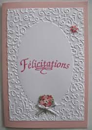 carte de fã licitations mariage carte de félicitations mariage perles nacrées sur kraft cartes