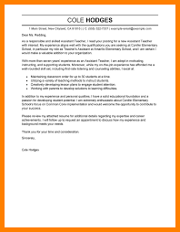 teacher assistant cover letter examples interesting ideas